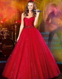 Vestidos de debutantes vermelho clássico