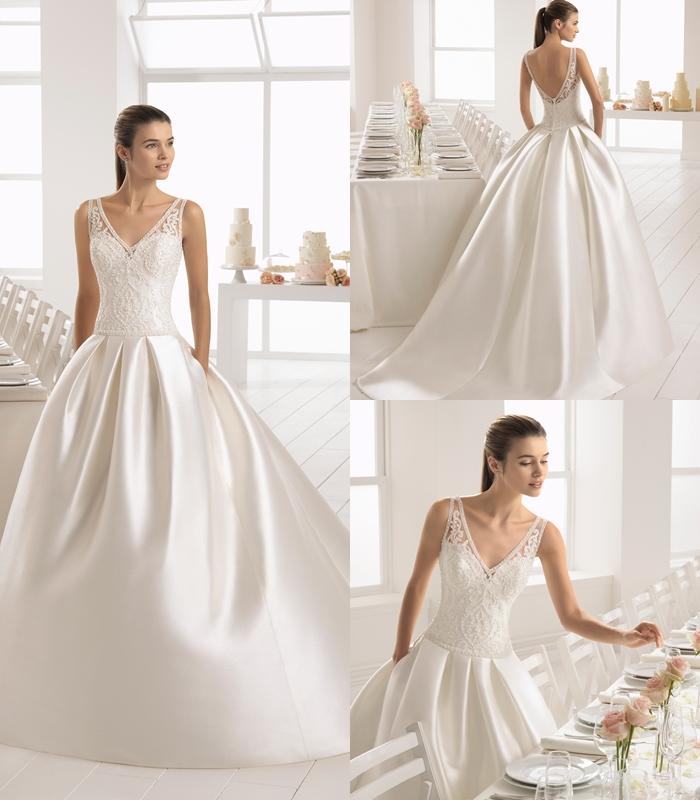 cb0972c29 O Vestido de noiva com bolso pode ser de diferentes estilos: vai do sensual  corte sereia ao tradicional modelo princesa, com a saia em 'A', ...
