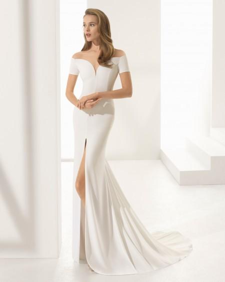 vestido de noiva minimalista atelier ivana beaumond paris rj