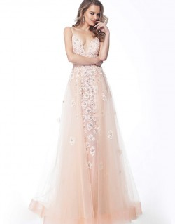 Vestido de Festa Ivana Beaumond 62929-BLUSH-1